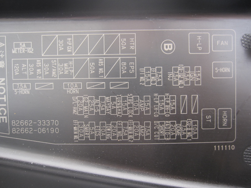toyota camry fuse box location 114 rh chadspictures com 2001 Explorer Fuse Panel Diagram 2013 toyota camry fuse diagram